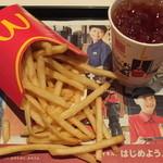マクドナルド - マックフライドポテト(L):期間限定150円+アイスティー:S:100円