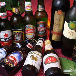 世界各国のビールが楽しめます☆