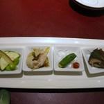 知味斎 - 料理写真:前菜4種盛り