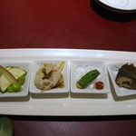 知味斎 - 前菜4種盛り