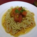 知味斎 - トマトのせ冷し麺