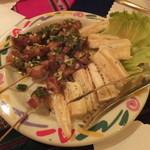 ペルー料理 ロミーナ - チチャロンとキャッサバ芋のフライ