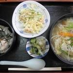 中村屋食堂 - しおタンメンセット¥720