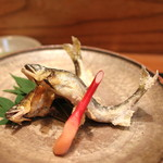め乃惣 - 小鮎の塩焼き (2014/08)