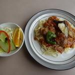 オーマイキッチンこも - チキンピカタスパゲティー