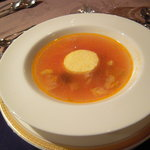 サザンクロス&アモーレ - スープ。トマトコンソメスープでした。