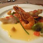 サザンクロス&アモーレ - お魚料理。金目鯛と海老でした。