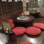 ちんちくりん - 広島初 ちゃぶ台型テーブル鉄板!