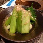 千串屋 - セロリの浅漬け(450円)