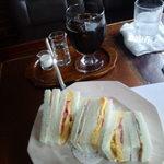 Koohiinoyakatasezon - ハムとたまごのトーストサンドセット
