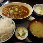 29636385 - 麻婆豆腐¥550+ライスセット¥300☆