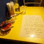 トリコカレー - テーブル