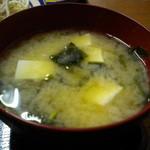 ぼん亭 - 味噌汁