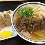 黒田藩 - うどん定食+肉トッピング(540円)