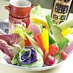 銀座イタリアン Fabi's  - 地野菜たっぷりバーニャカウダ