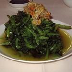 王宝和大酒店 宝和厅 - 蟹肉と豆苗の炒め物