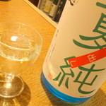 朔 - 【2014年8月再訪】日本酒1杯目は「長門峡」夏純でカンパーーイ!