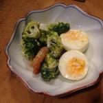 呑ん兵衛神田 - 2014/08/☆  茹で卵とブロッコリー!