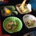湯野温泉 紫水園 - よくばり御膳 1600円 温泉とセット