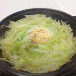 壱ノ座 - 料理写真:キャベツの巣ごもり風トウバン焼き。卵焼き過ぎたー。