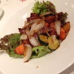 29654461 - 夏の限定特別プラン(4,500円)の夏野菜と鶏肉の黒酢炒め2014年8月