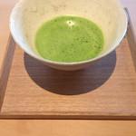 茶洒 金田中 - 抹茶(1000円)ですが甘味とセットで500円引き