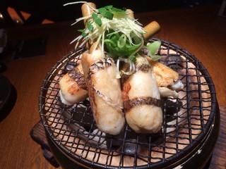 燦 OBPツインタワー店 - 天然真鯛の焼き竹輪・木の芽昆布醤油炙り