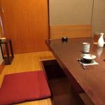 京都豆八 - 1階個室。