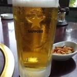 ナンスポ ビール園 - 中ジョッキ 500円