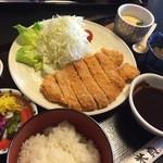 米貞 - 味噌カツ御膳1480円(ランチ時は100円引き)