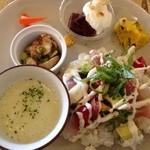 cafe shibaken - ひな祭りのランチプレート