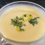 29683475 - ランチに追加した冷製コーンスープ 美味しい〜♥︎