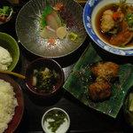玄海食堂 温や - 温や定食1700円(税込み1785円)