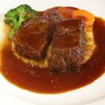 夢時庵 - 国産牛ほほ肉の赤ワイン煮込み、温野菜添え