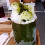 茶の葉 - かき氷 (煎茶)
