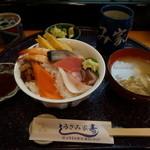 うさみ家寿し - 料理写真:日替わりまかない丼(ランチ)¥800円