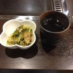 さんわ - つきだしの水菜の煮浸し♫