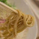 ふく流らーめん 轍 - 1-2)ふく流らーめんの麺