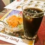 インドレストランアンドバー SITAL - E-set 950円(サラダ・アイスコーヒー)