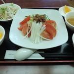 健康中華庵 青蓮 - ランチの冷やし坦々麺セット