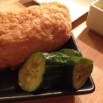 いごこち日和。 - 稲荷寿司、胡瓜漬物