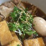 29738370 - キノコ・豚肉・ネギ・味付け卵入りつけ蕎麦