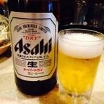 しゃぶ亭 - 中瓶ビール