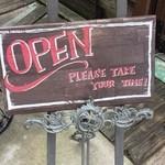 Cafe&Dining zero+ - 入口足下看板