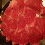 シャカ - 薄切りステーキ用の牛肉