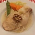 ビストロ とげまる - 骨付きの鶏モモ肉とたくさんの野菜