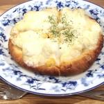 まめcafe - おから生地のピザ(ポテマヨコーン)