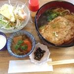 まめcafe - 日替わ定食(とろろかけ豆腐ステーキ)