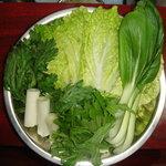 風雲火鍋城 - 旬の野菜盛り。野菜不足の方は是非どうぞ!