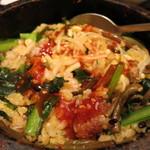 韓国旬菜ハル - 石焼ビビンパ混ぜた後!おこげができて美味しい!